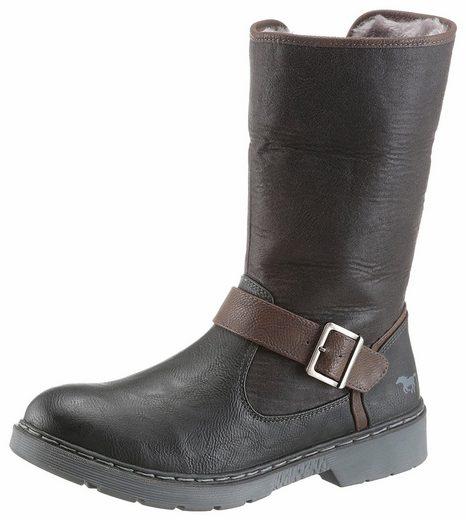 Mustang Shoes Winterstiefelette, hoch- und umgeschlagen tragbar