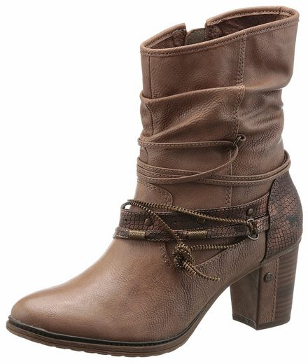 Mustang Shoes Western Deep Lettering With Trendy Belts