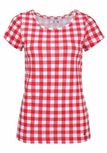 AJC T-Shirt, im Allover-Vichy-Karo-Druck