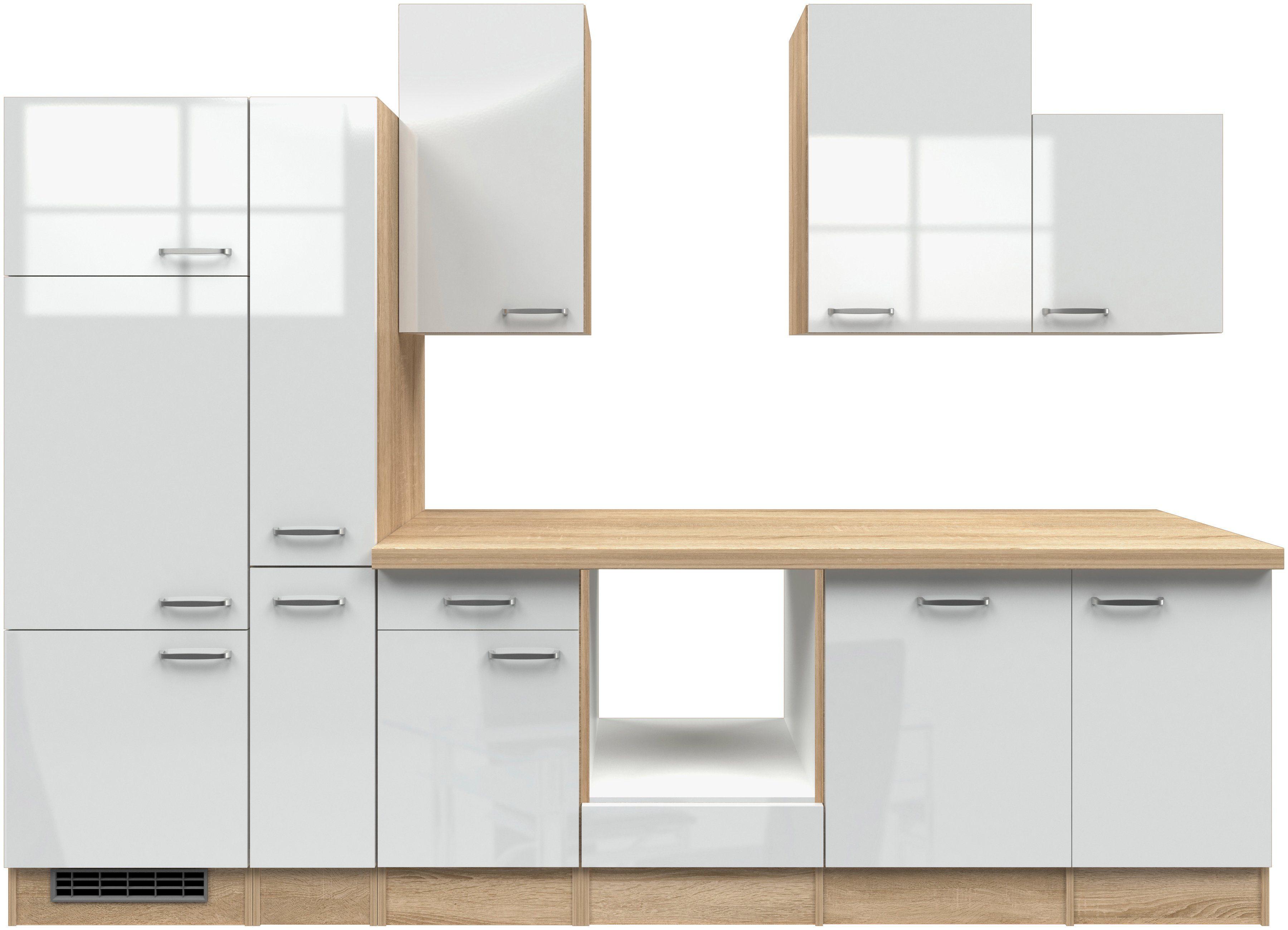 Küchenzeile ohne E-Geräte »Florenz«, Breite 310 cm