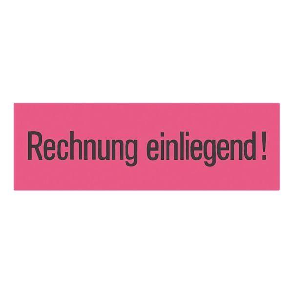 Herma Hinweisetikett »Rechnung einliegend«