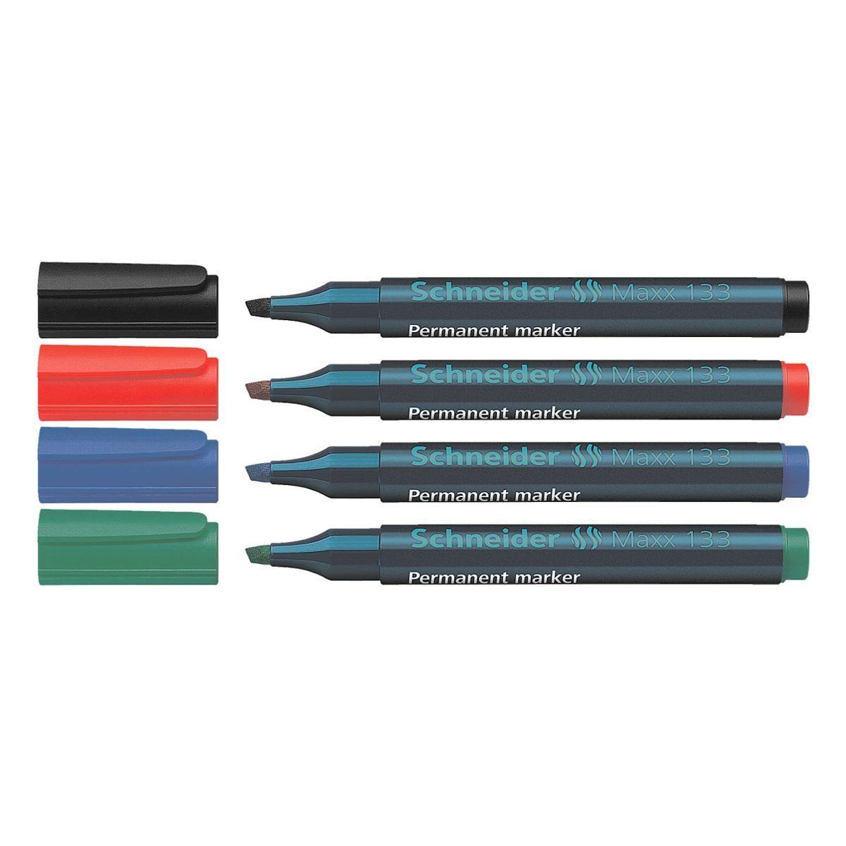 Schneider 4er-Pack Permanent-Marker »Maxx 133«
