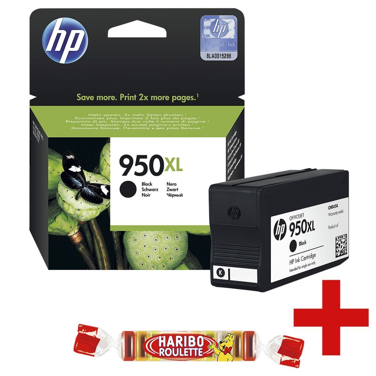 HP Tintenpatrone »HP CNO45AE« HP 950XL inkl. Fruchtgum... 1 Set