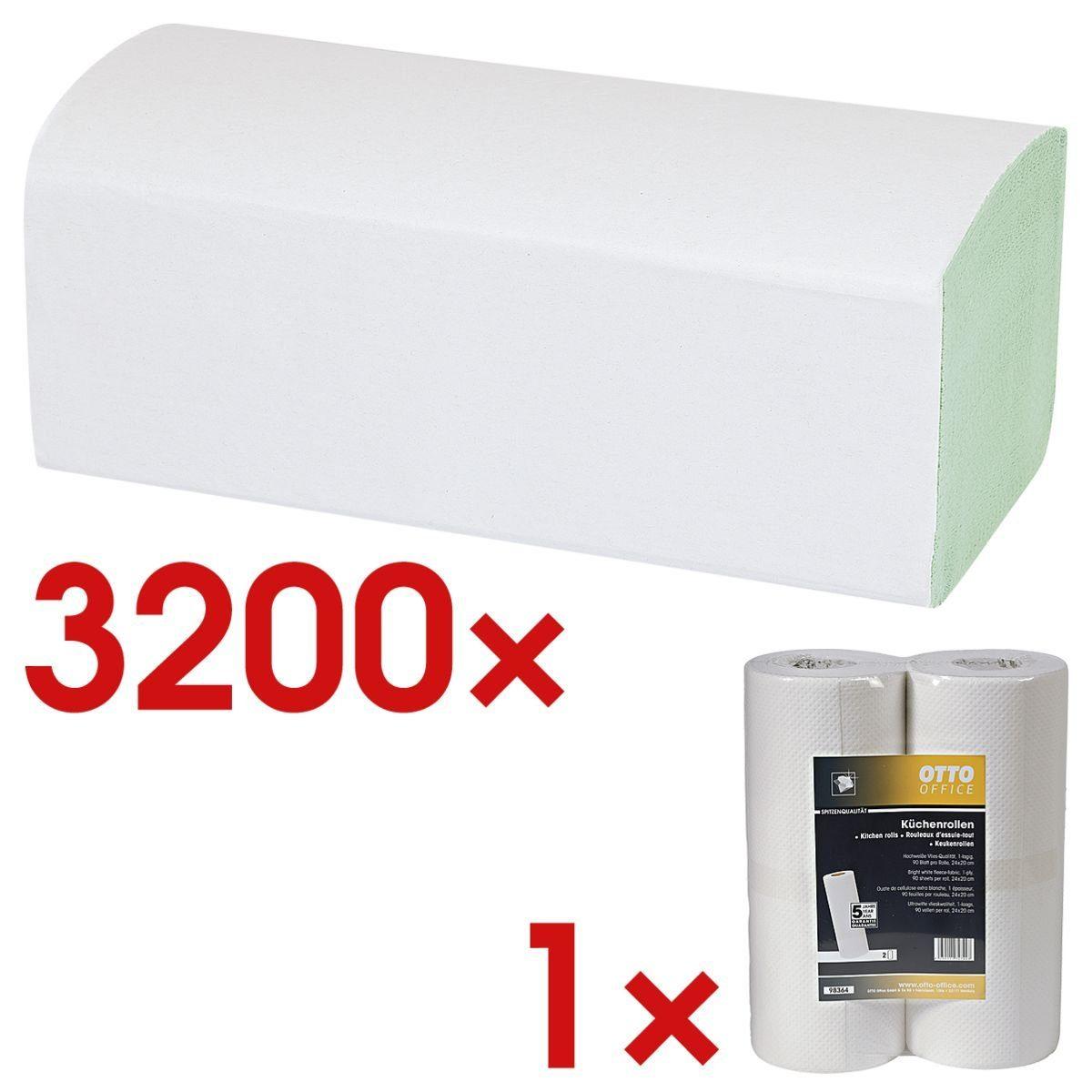 OTTO Office Standard Papierhandtücher inkl. Küchenrollen 1 Set