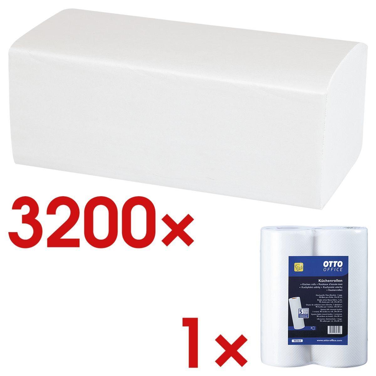 OTTOOFFICE STANDARD Papierhandtücher inkl. Küchenrollen 1 Set