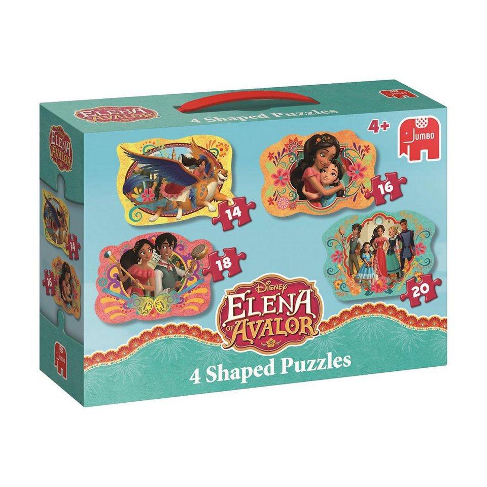 Jumbo 4in1 Konturenpuzzles 14/16/18/20 Teile - Elena von Avalor online kaufen