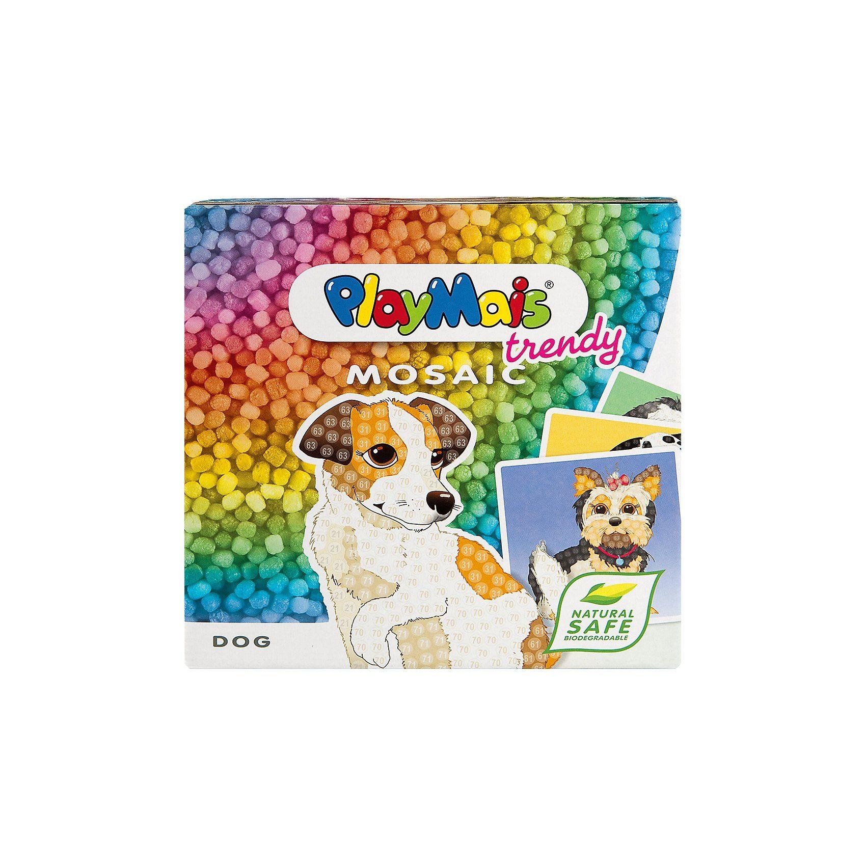 PlayMais TRENDY MOSAIC Hunde, 3.000 Maisbausteine