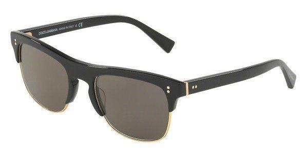 DOLCE & GABBANA Dolce & Gabbana Herren Sonnenbrille » DG4305«, schwarz, 501/R5 - schwarz/grau
