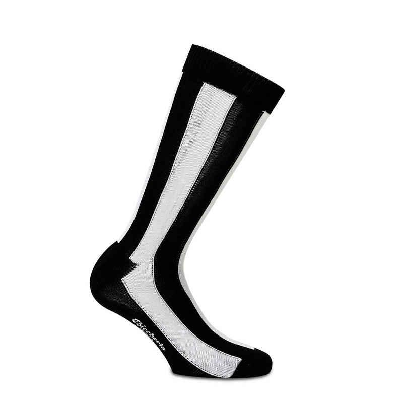 Chiccheria Brand Socken (1 Paar) aus Baumwolle, gestreift, Made in Italy by Bresciani