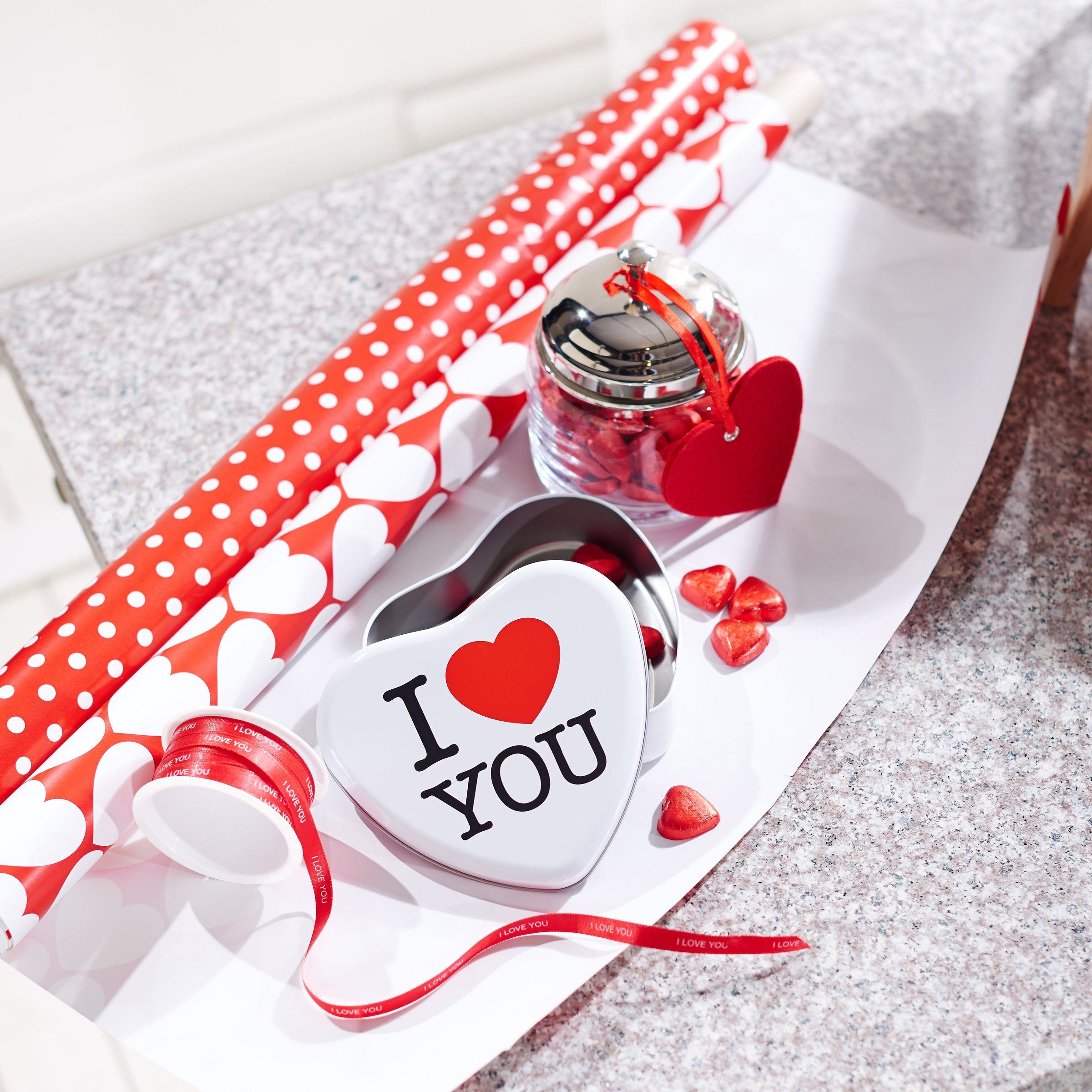 BUTLERS RIBBON »Geschenkband I love you«