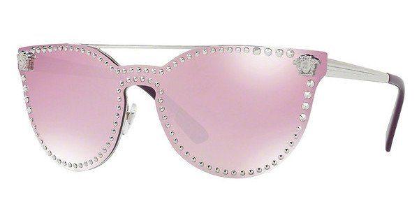 Versace Damen Sonnenbrille » VE2177«, silberfarben, 10007V - silber/weiß