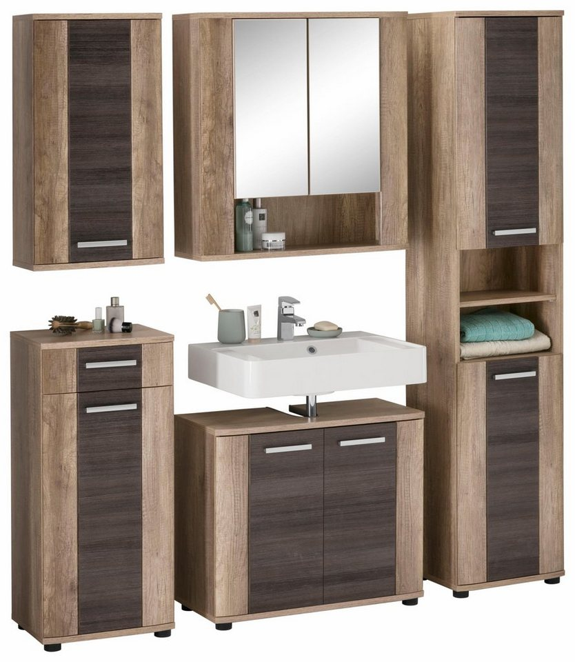 welltime badm bel set star 5 tlg mit holzoptik online kaufen otto. Black Bedroom Furniture Sets. Home Design Ideas