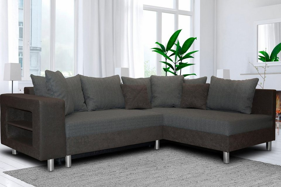 inosign canberra ecksofa mit bettfunktion kaufen otto. Black Bedroom Furniture Sets. Home Design Ideas
