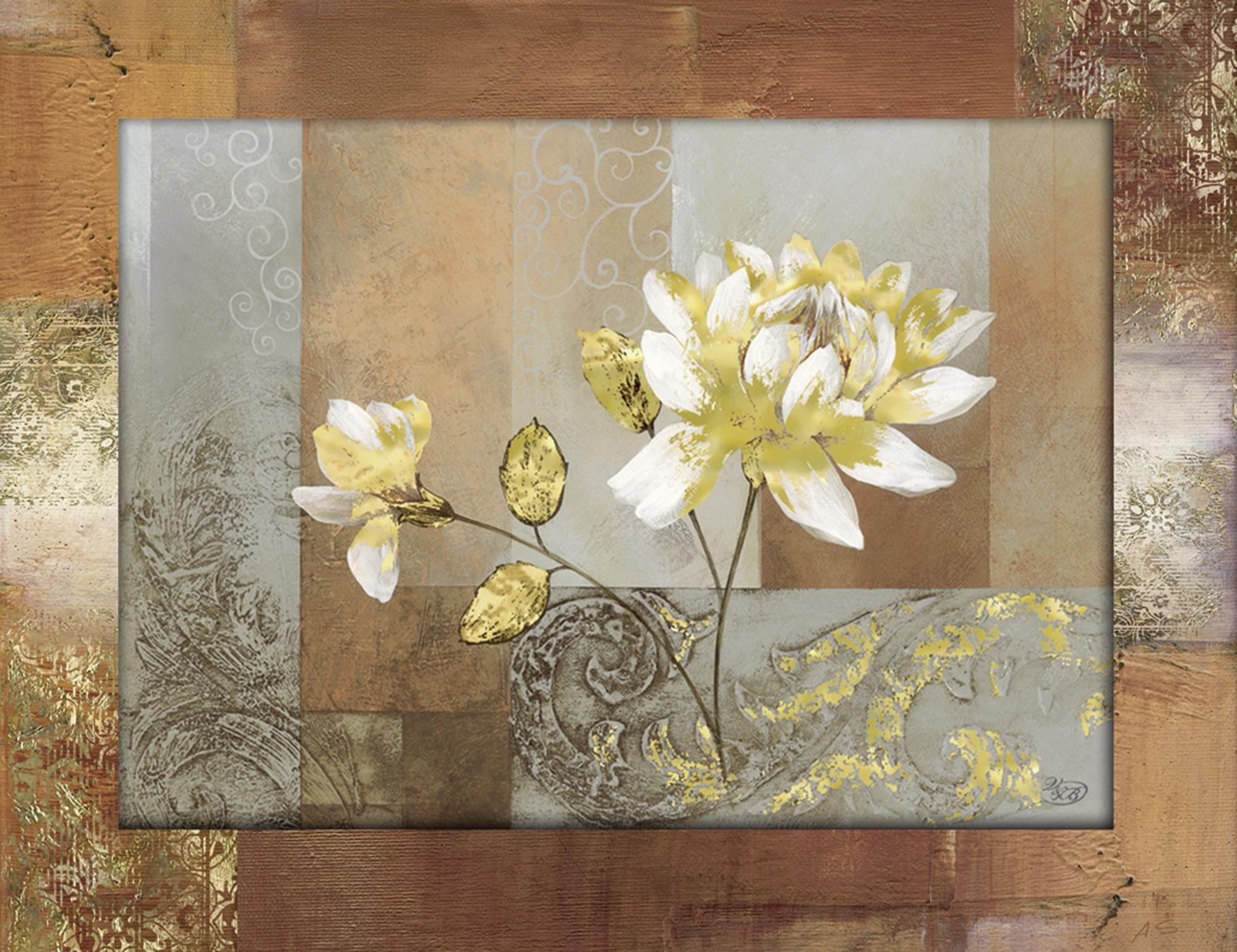 Home affaire Bild »Verbeek&v.d.Broek: Maßloses Aufspr«, Blume, Ornamente, 86,4/66,4 cm, gerahmt