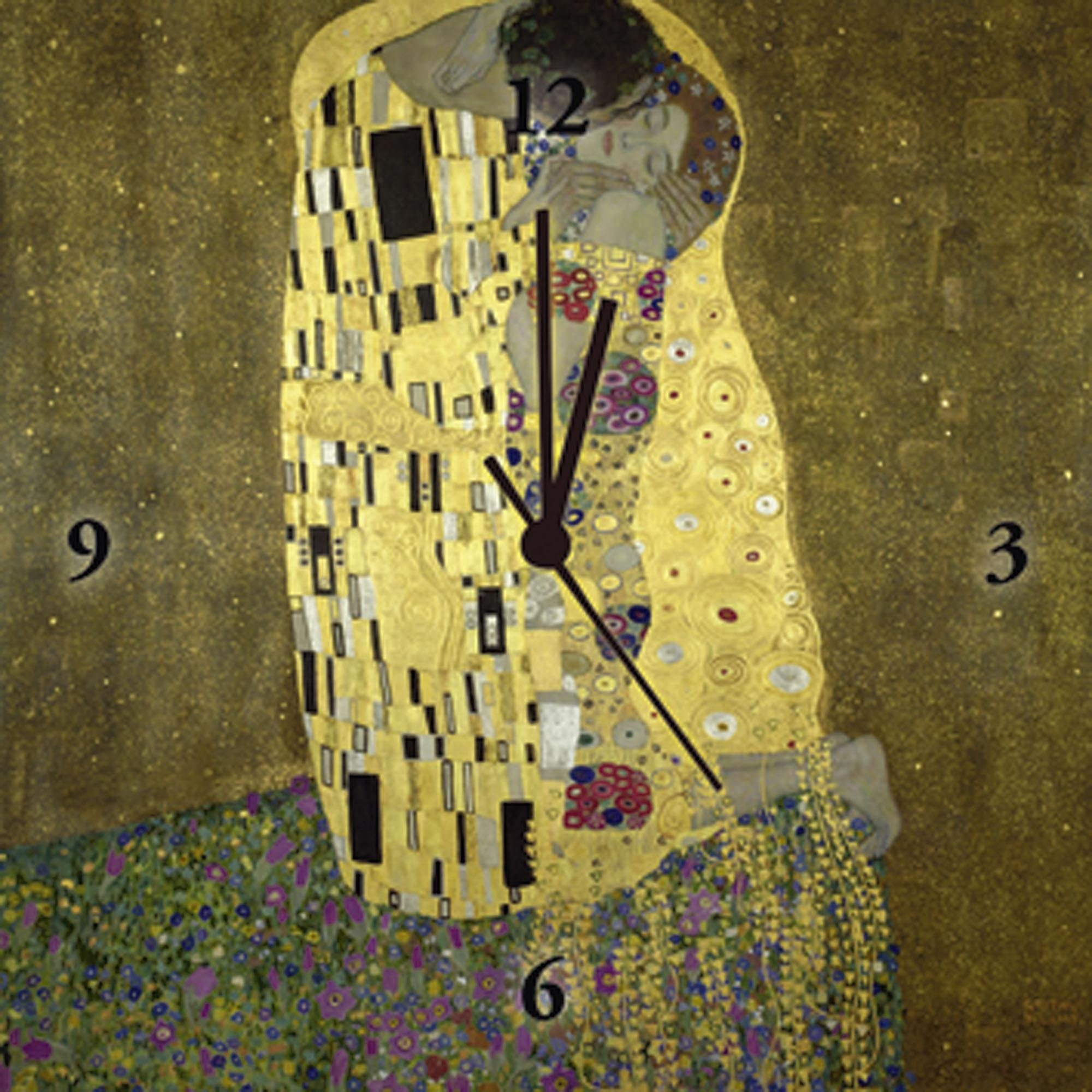 Home affaire Uhr »Klimt, Gustav: Der Kuß«, 30/30 cm