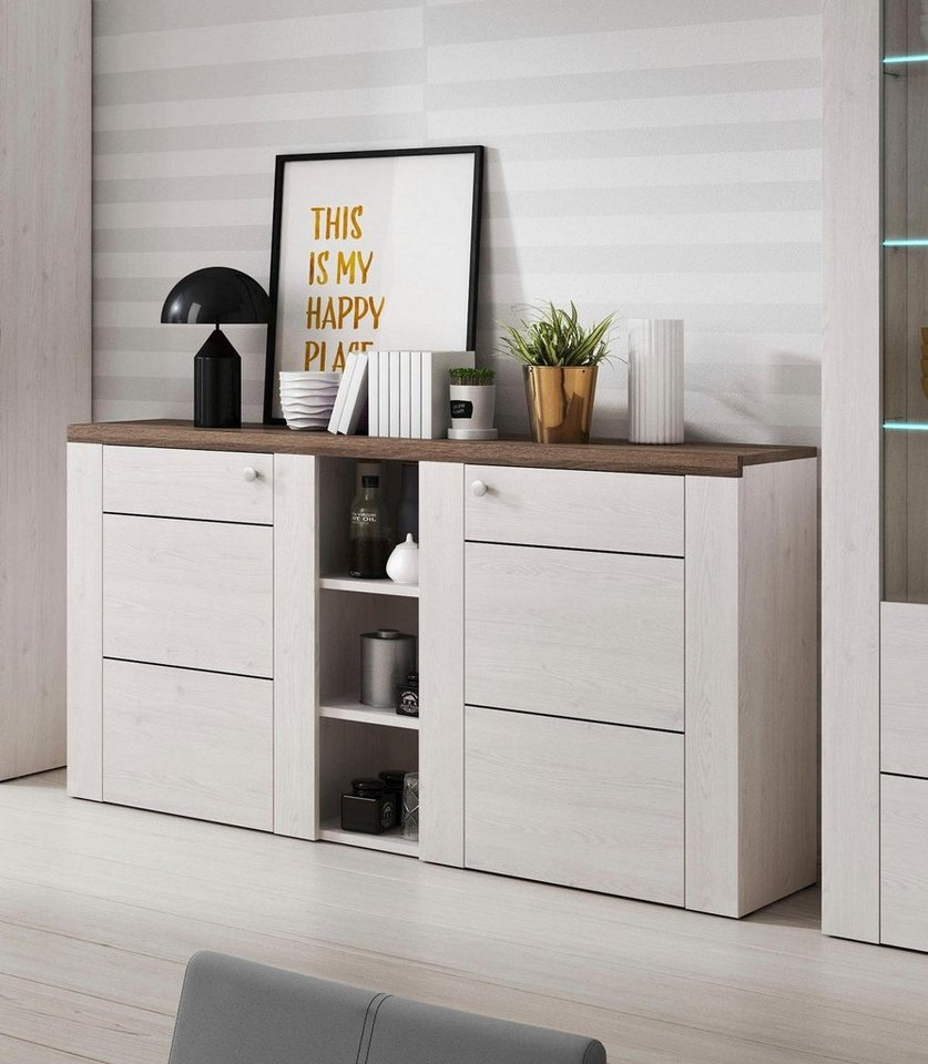 sideboard breite 155 cm fsc zertifizierter holzwerkstoff online kaufen otto. Black Bedroom Furniture Sets. Home Design Ideas