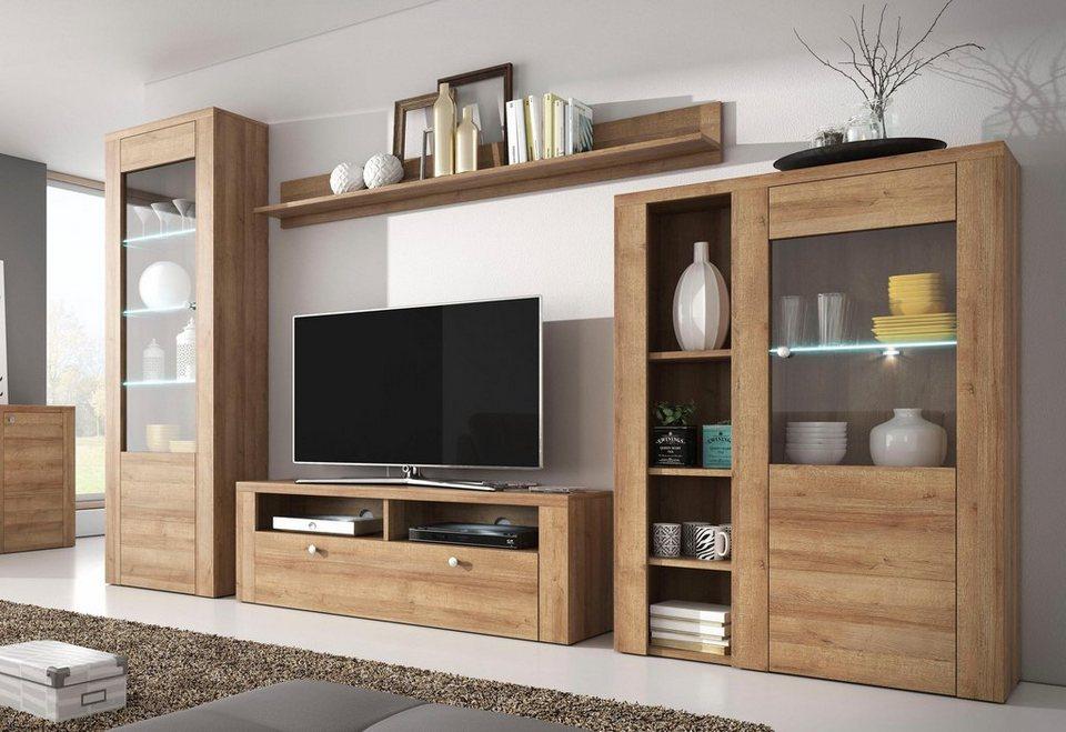 wohnwand 4 tlg online kaufen otto. Black Bedroom Furniture Sets. Home Design Ideas
