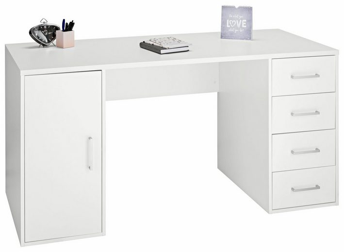 MAJA-Möbel Schreibtisch »Alex« mit 4 Schubkästen und 1 Tür