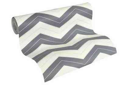 Vliestapete, »geometrisch skandinavische Tapete Designdschungel by Laura N.«, weiß, dunkelgrau