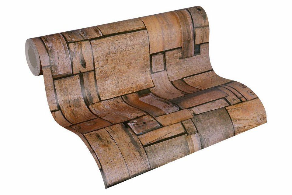 schaumtapete livingwalls nat rliche tapete in holzoptik simply decor online kaufen otto. Black Bedroom Furniture Sets. Home Design Ideas