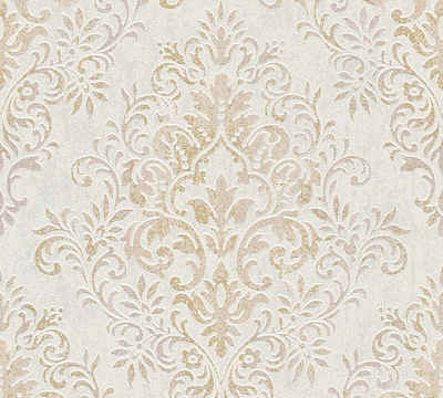 Vliestapete »Tapete mit Ornamenten barock«, metallic, matt, glänzend,  ornamental, floral, gemustert, strukturiert
