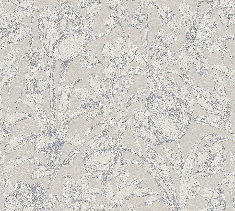 vliestapete livingwalls neobarocke und florale. Black Bedroom Furniture Sets. Home Design Ideas