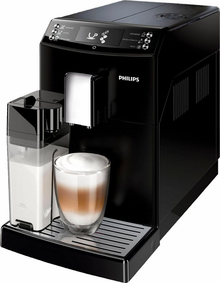 philips kaffeevollautomat 3100 serie ep3550 00 mit milchkaraffe und aquaclean schwarz online. Black Bedroom Furniture Sets. Home Design Ideas