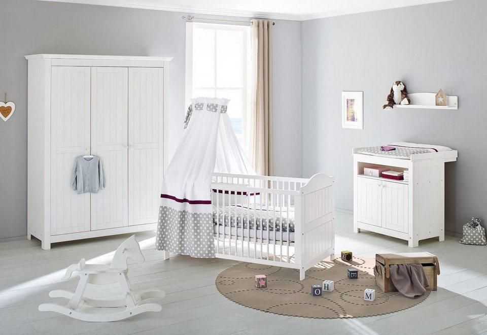 Wonderful Pinolino Babyzimmer Set (3 Tlg) Kinderzimmer »Nina« Groß 3 Türig