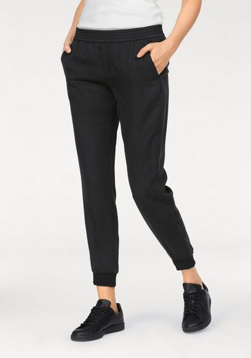 Mac Slip Pants Cropped Easy, Joggn.pants In Soft Flowing Quality