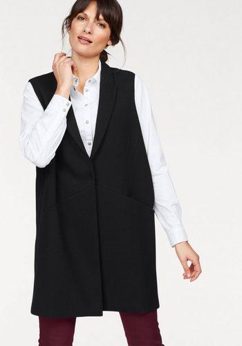 Damen Danwear Longweste mit Reverskragen schwarz | 05710289849720