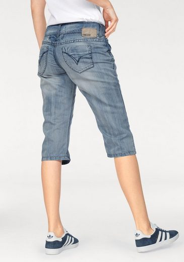 Timezone Jeansshorts, New Britttz 3/4 3410 Buffy Line Wash