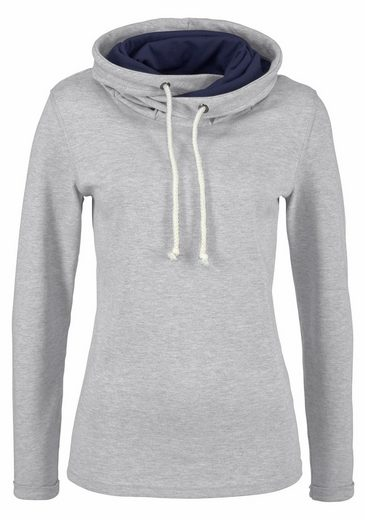 gestreift Sweatshirt Flashlights Top mit »mit Set Top Kontrastdetails« BCOfqCw
