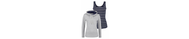 Flashlights Sweatshirt mit Kontrastdetails (Set, mit Top), Top gestreift