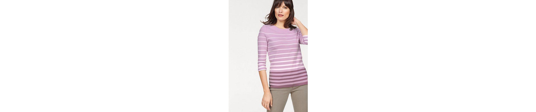 Olsen Rundhalsshirt, 11100060 aus Bio-Baumwolle, gestreift