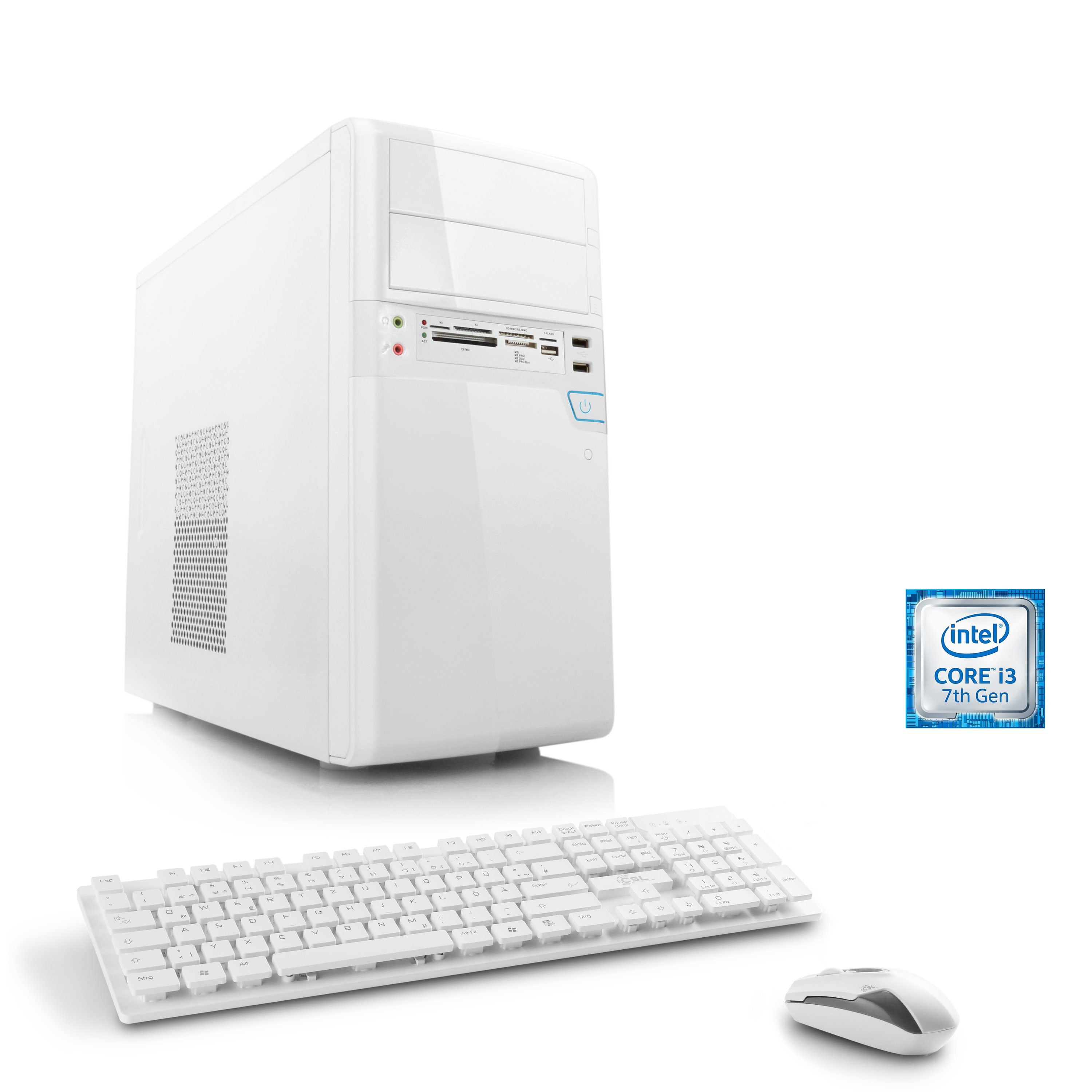 CSL Multimedia PC | Core i3-7100 | Intel HD 630 | 8 GB DDR4 »Speed T5951 Windows 10 Home«