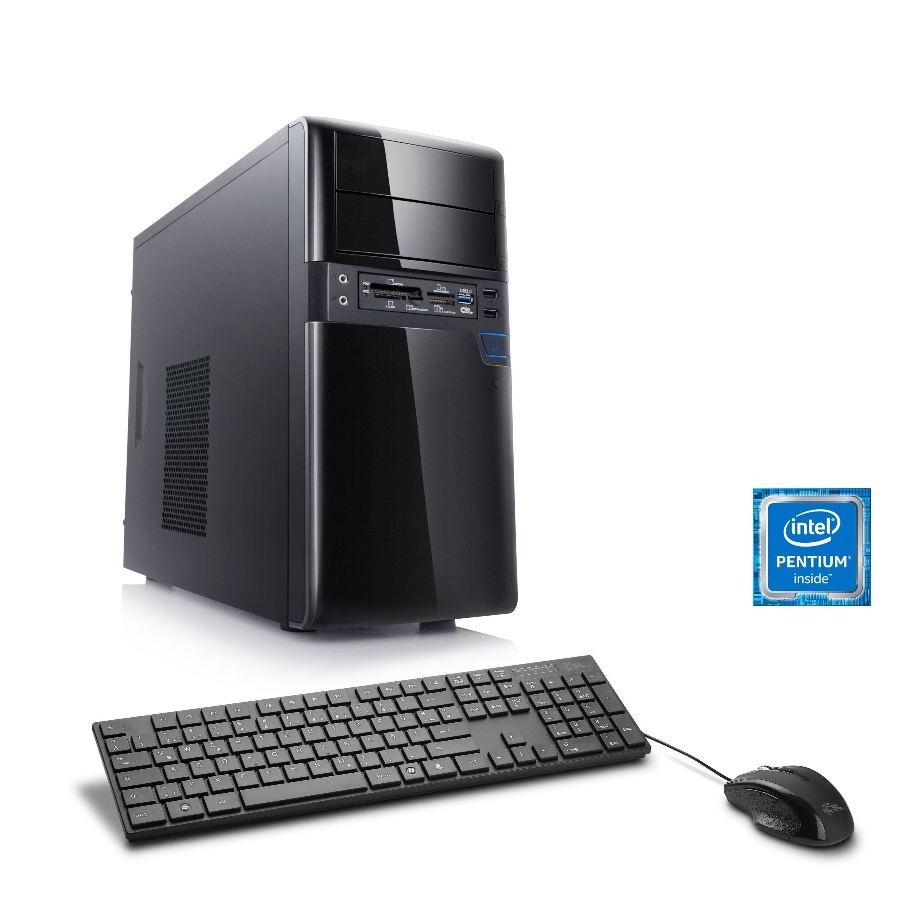 CSL Multimedia PC | Pentium G4560 | Intel HD 610 | 4 GB RAM »Speed T3411 Windows 10 Home«