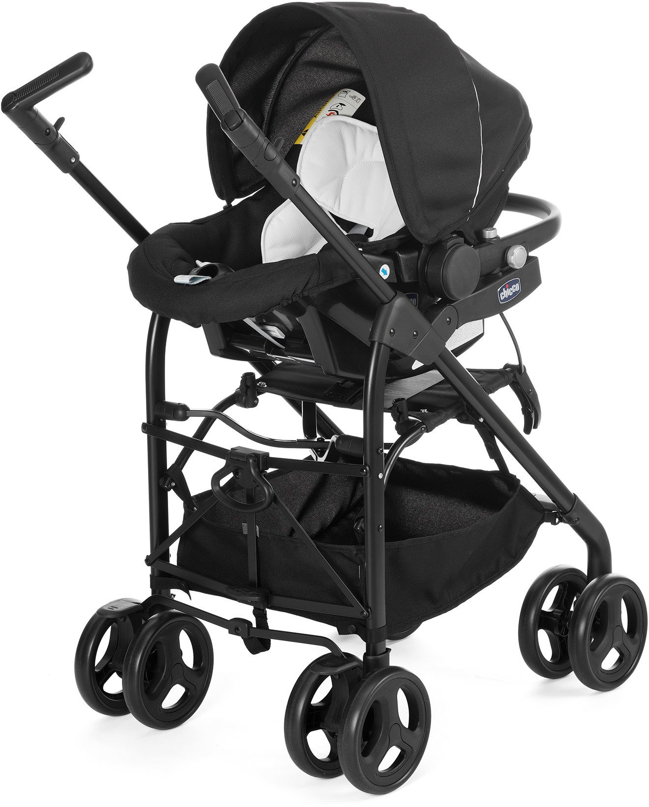 Chicco® Kombi Kinderwagen, »Trio-System Sprint, black night«