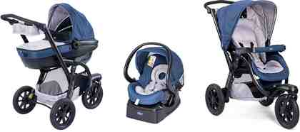 Chicco® Kombi Kinderwagen, »Trio-System Activ3 Top mit Kit Car, blue passion«