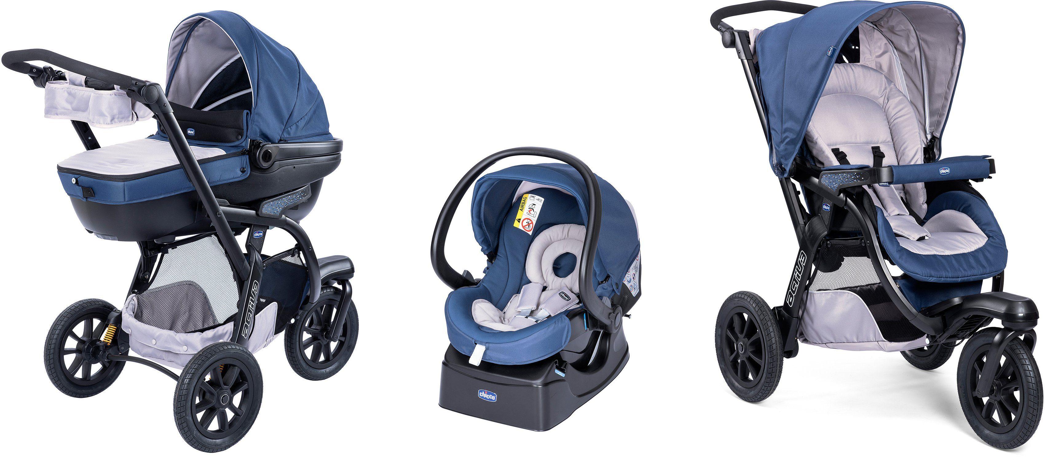 Chicco® Kombi Kinderwagen, »Trio-System Activ3 Top mit Kit Car, blue passion«