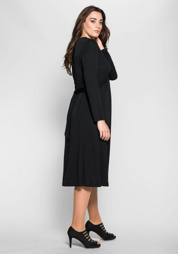 Anna Scarf Scholz For Sheego Jersey Dress, With Fixed To Tie In Back