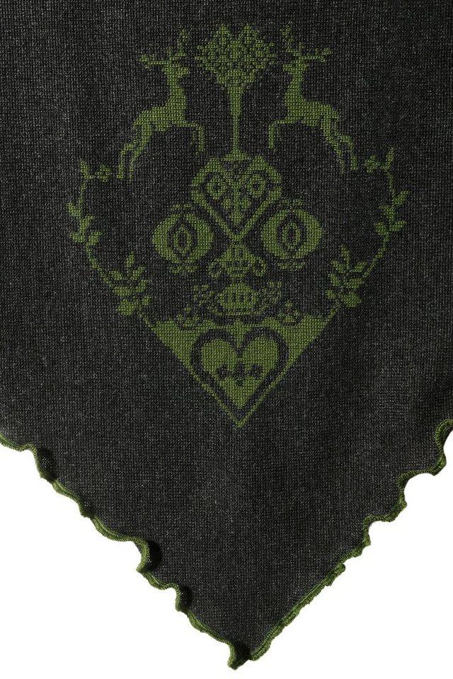 Mondkini Trachtenponcho Strick-Motiv