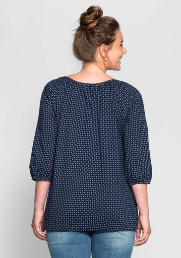 sheego Casual 3/4-Arm-Shirt, mit Alloverdruck