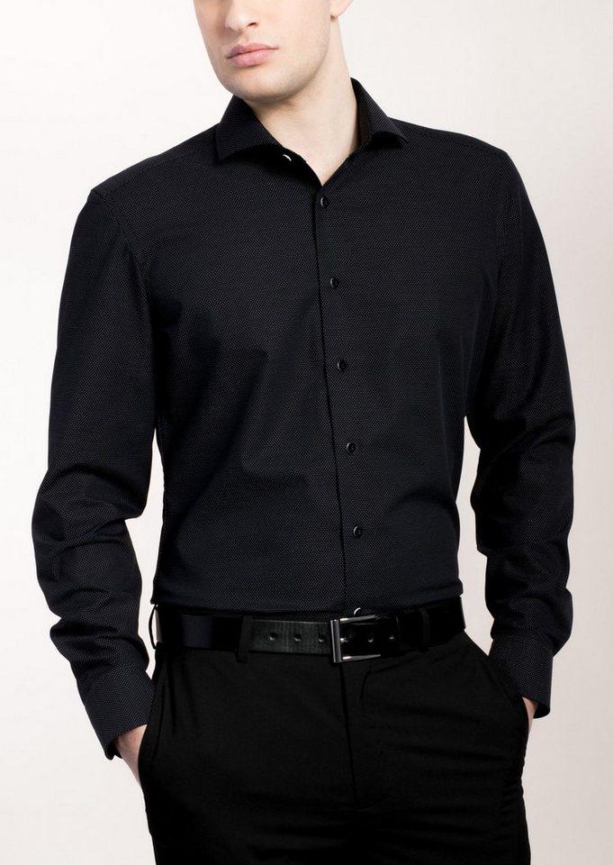 eterna langarm hemd slim fit gemustert kaufen otto. Black Bedroom Furniture Sets. Home Design Ideas