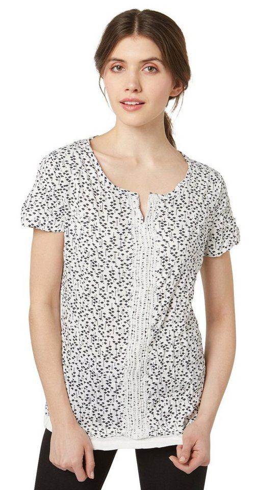 Tom tailor t shirt t shirt mit underlayer und h kelei for Tailored t shirts online