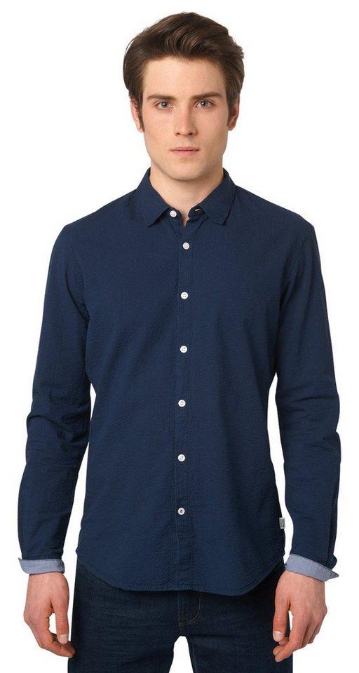tom tailor denim hemd gestreiftes hemd aus seersucker. Black Bedroom Furniture Sets. Home Design Ideas