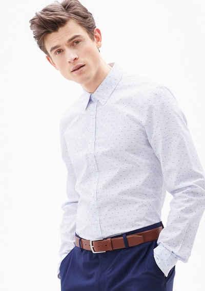 s.Oliver BLACK LABEL Slim: Hemd mit Farbakzenten Sale Angebote Roggosen