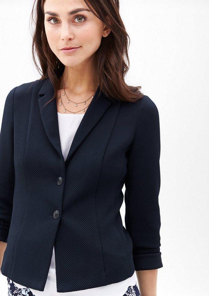 s oliver black label jersey blazer mit wabenstruktur online kaufen otto. Black Bedroom Furniture Sets. Home Design Ideas
