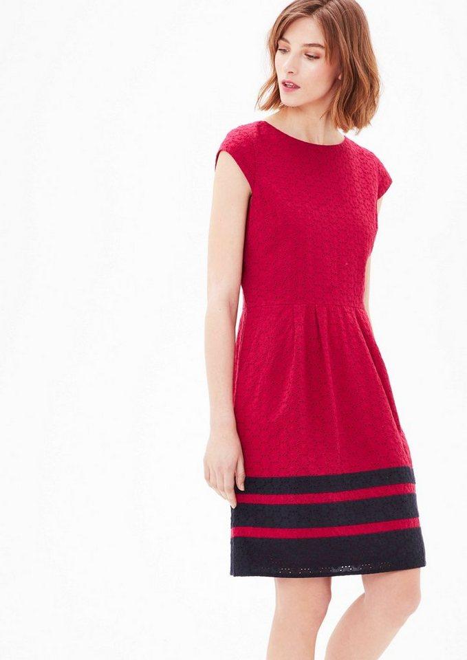 s oliver red label spitzen kleid mit blockstreifen otto. Black Bedroom Furniture Sets. Home Design Ideas