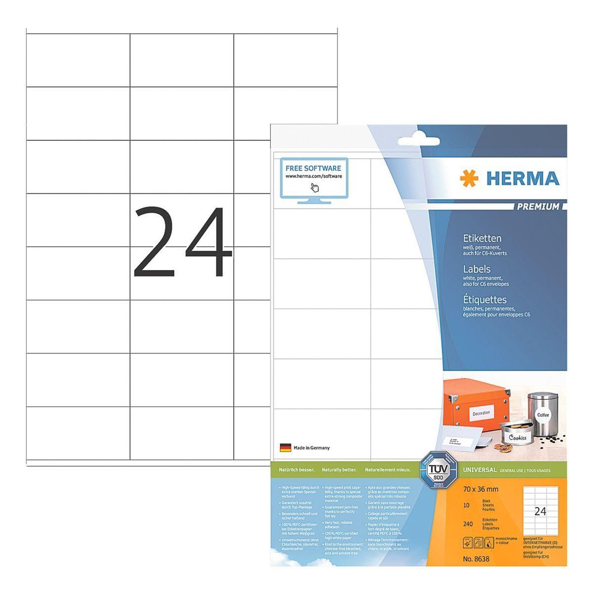 Herma 240er-Pack Universal-Klebeetiketten »8638«
