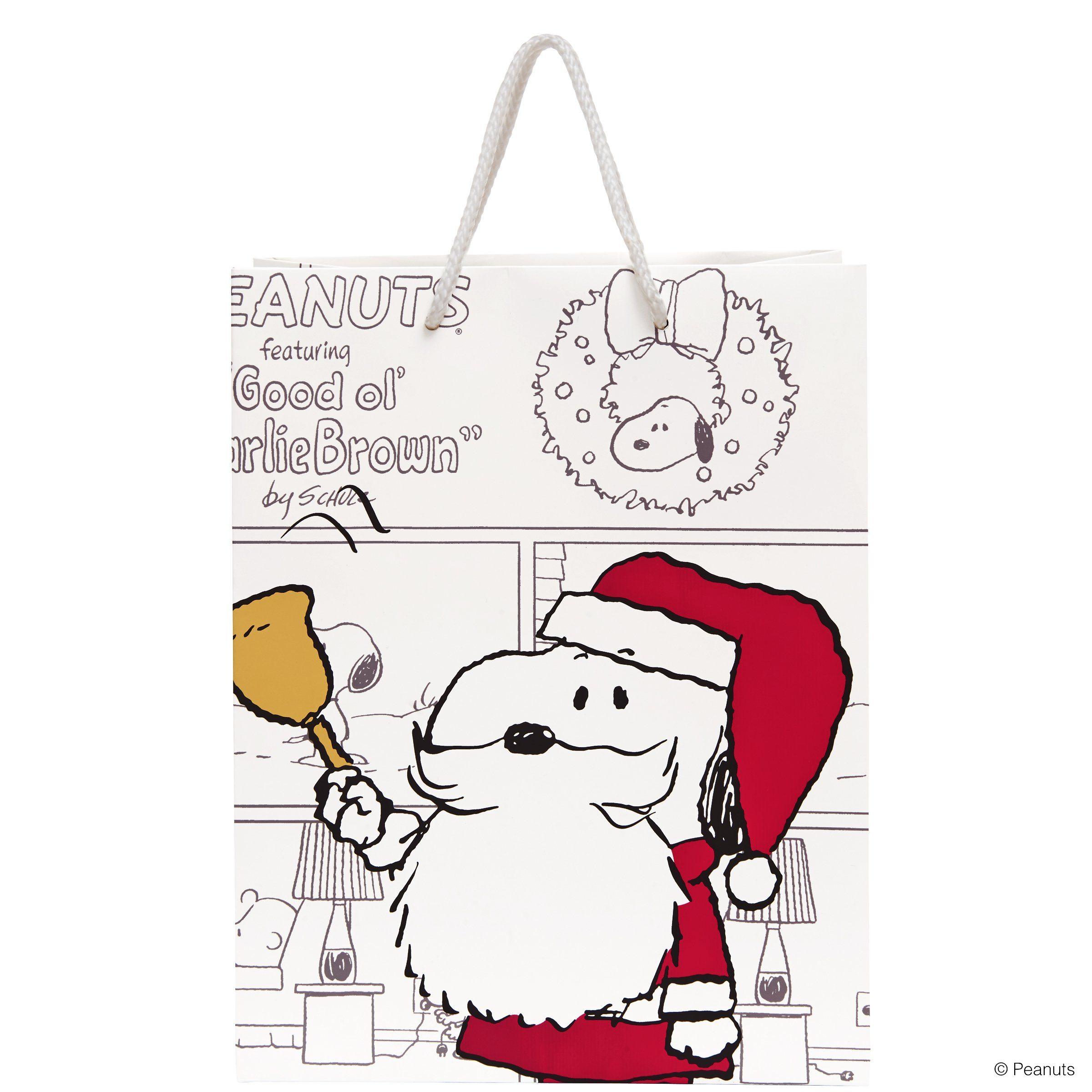 BUTLERS PEANUTS »Geschenktasche Santa Snoopy groß«